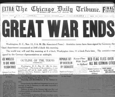 the first world war ended the Interpretations: the causes of the war the treaty [treaty: a formal agreement between two or more countries] of versailles which ended the war blamed germany for the outbreak of war (clause 231.